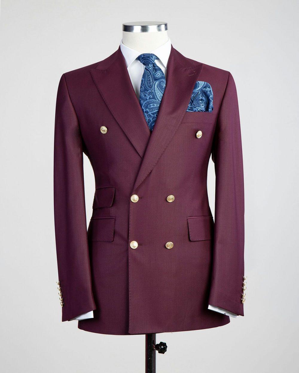 The Hutchison Burgundy Suit