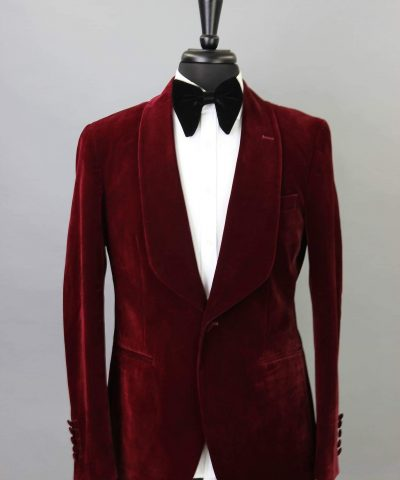 BURGUNDY CORDUROY DINNER JACKET
