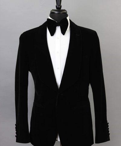 Black Corduroy Dinner Jacket